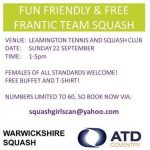 Women's Squash Week At Leamington Squash Club